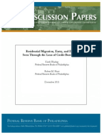 Residential Migration, Entry, and Exit as Seen Through the Lens of Credit Bureau Data