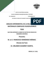 Analisis Experimental de La Relajacion en Materiales Complejos Plexoplegables