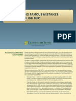 Avoid Famous Mistakes With ISO 9001