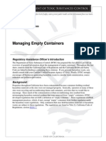 Managing Empty Containers