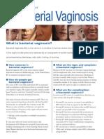 BV Fact Sheet (Cdc.gov)
