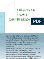16 Trait Dimensions