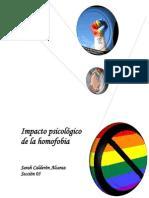 Impacto psicológico de la homofobia