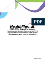 Health Plus 2013-14 Drug Formulary
