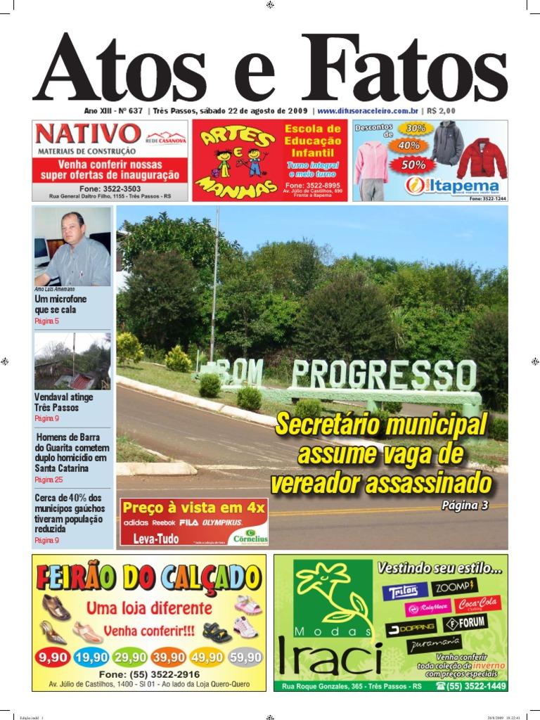 025f89ae2 Jornal Atos e Fatos Ed. 637 - 22-08-2009