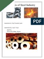 Steel Industry Pro.(Arjav Vyas-PGDM)