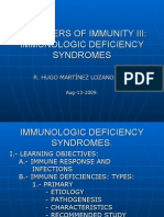 Disorders of Immunity III. Immunologic Deficiency Syndromes