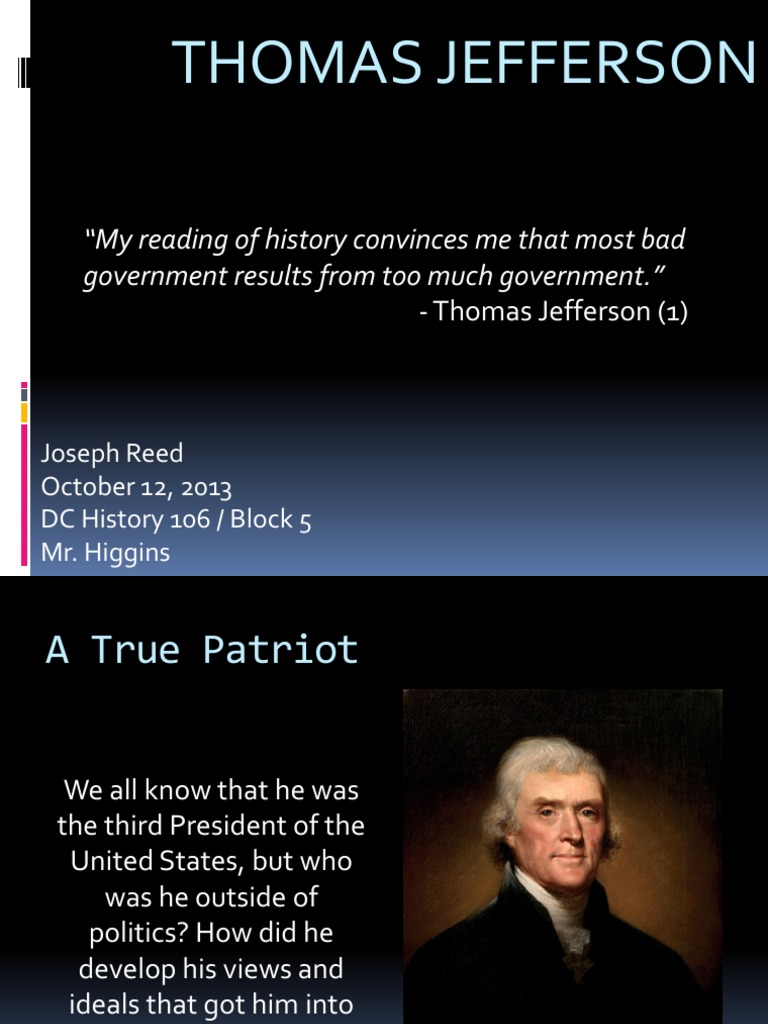 thomas jefferson and american history Thomas jefferson served as the third president of learn more about us history the next man to take the american.