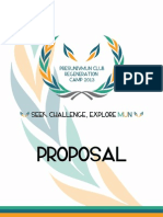 PUMUN Regeneration Camp Proposal