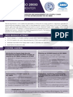 Certified ISO 28000 Lead Implementer - Two Page Brochure