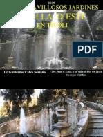 Los Maravillosos Jardines de Villa d`Este en Tivoli - Italia