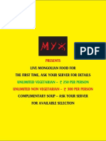 Myx Menu (New)