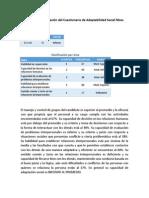 Reporte de evaluación del Cuestionario de Adaptabilidad Social Moss