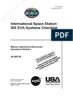 NASA ISS EVA Systems Checklist