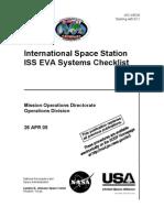 NASA ISS EVA Systems Checklist