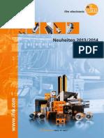 Ifm Neuheiten-Katalog Deutsch 2013-2014