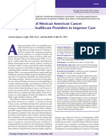 blending voices of mexican american cancer  caregivers and healthcare providers to improve care