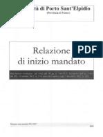 Commissione Controllo e Garanzia. Relazione Di Inizio Mandato