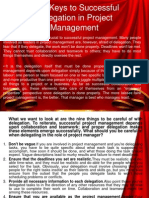 Nine Keys to Successful Delegation in Project Management