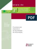 Anais do 3º Encontro de Bases de Dados sobre Informações Arquivísticas_ o acesso aos arquivos e as tecnologias de informação - Associação dos Arquivistas Brasileiros