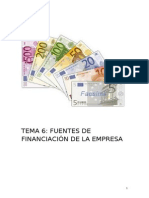 TEMA 6 MEDIOS DE FINANCIACIÓN