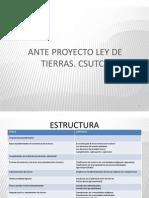 Anteproyecto Ley de Tierras - Csutcb