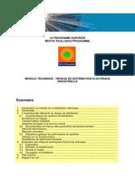 Module technique transformateurs et distribution électrique
