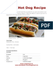 Spicy Hot Dog Recipe