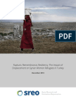 Rupture, Remembrance, Resiliency- The Impact of Displacement on Syrian Women Refugees in Turkey