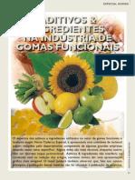 ADITIVOS E INGREDIENTES NA INDÚSTRIA DE GOMAS FUNCIONAIS
