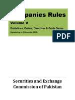 Companies Rules Volume V