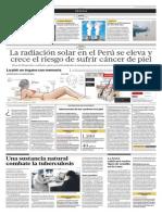 La radiación solar en el Perú se eleva y crece el riesgo de sufrir de cáncer de piel