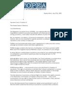 Carta de FOPEA a La Corte de EEUU