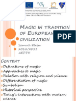 Magic in Tradition of European Civilization
