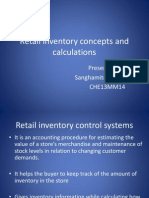 Retail Inventory Concepts and Calculations