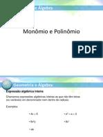 Cálculo Algébrico - Monômios e Polinômios