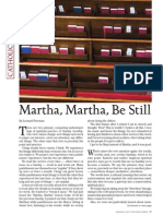 Martha Martha Be Still