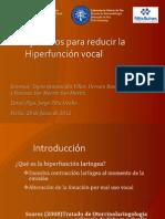 7. Ejercicios para reducir la hiperfunción vocal