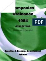 Companies Ordinance, 1984