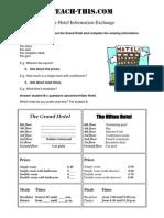 The Hotel Information Exchange