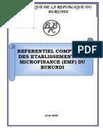 Réferentiel comptable EMF