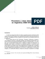 Peronismo y Clase Obrera en Argentina (1968-1973)