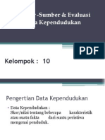Sumber Data demografi