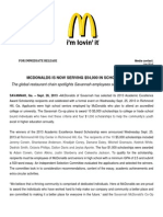 McDonalds Press Release