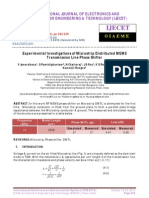 Experimental Investigations of Microstrip Distributed MEMS
