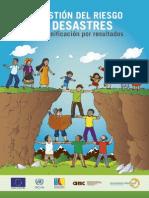 Manual La gestión del riesgos de desastres en la planificación de resultados