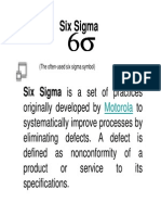 Six Sigma Basics