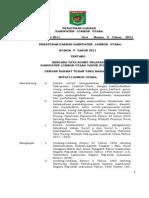 Peraturan Daerah Kabupaten Lombok Utara Nomor 9 Tahun 2011 Tentang Rencana Tata Ruang Wilayah Kabupaten Lombok Utara Tahun 2011 - 2031