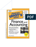 Complete Idiot's Guide to Finance and Accounting