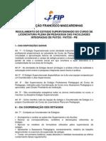 2009.2  regulamento estágio pedagogia FACULDADES INTEGRADAS DE PATOS